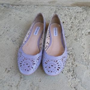 Steve Madden Purple Leather Flats- Size 9